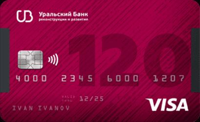 УРБИР 120 дней без процентов карта